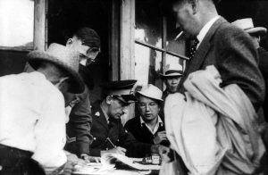 Japanese Canadians boarding train